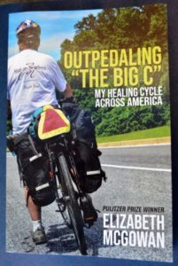 """Outpedaling """"the Big C"""" book cover"""