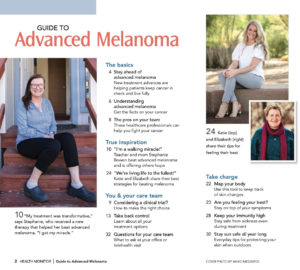 Index pages of Guide to Advanced Melanoma